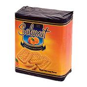 بیسکویت شیرمال سلامت پرتقالی با تزئین شکر