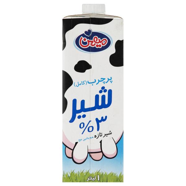 شیر پر چرب 1 لیتری میهن