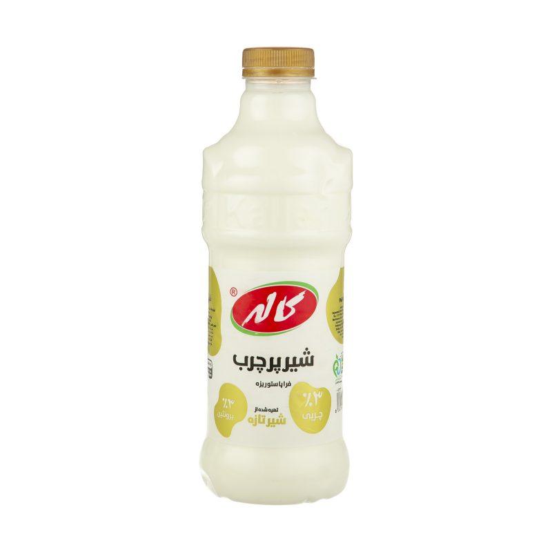 شیر کاله بطری پرچرب 1 لیتری