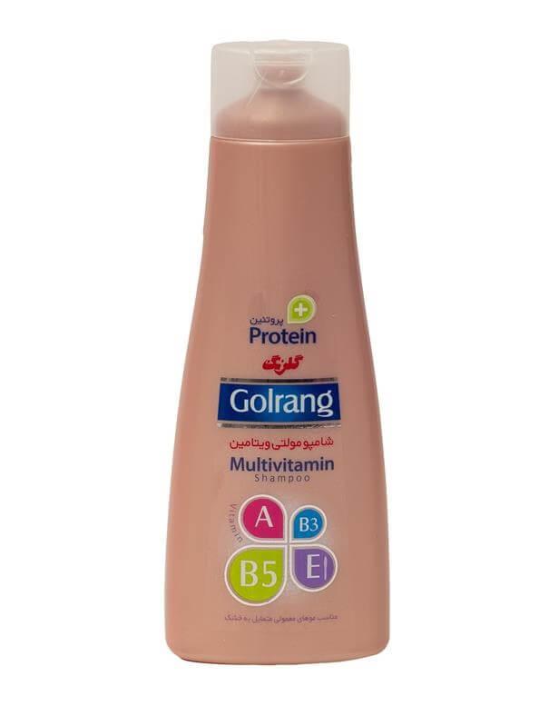 شامپو مولتی ویتامین پلاس پروتئین مخصوص موهای خشک گلرنگ