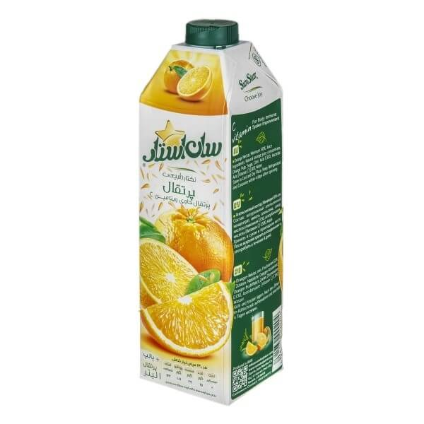 آبمیوه سان استار پرتقال 1 لیتری