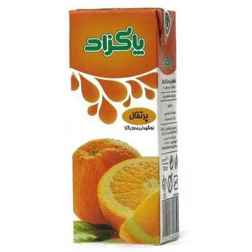 آبمیوه پرتقال 200 میلی لیتر پاکزاد