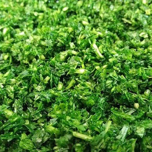 سبزی کوکو پاک شده و خرد شده ( نیم کیلو )