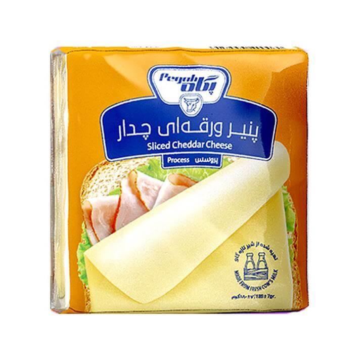 پنیر پروسس ورقه ای با طعم چدار پگاه 180 گرم