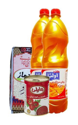 دو-عدد-روغن-سرخ-کردنی--900-گرم-+-یک-عدد-رب-400-گرم+-برنج-ایرانی-عنبربو-900-گرمی