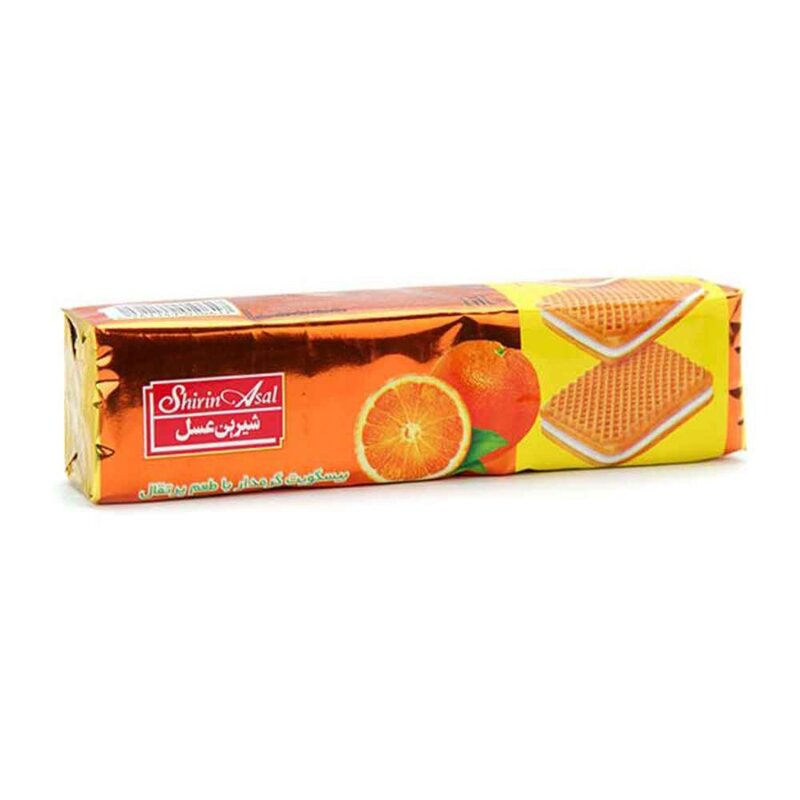 بیسکویت کرمدار پرتقالی شیرین عسل